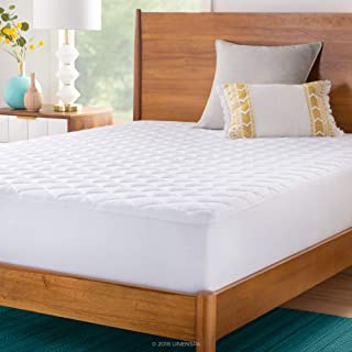 LINENSPA Plush Microfiber Mattress Pad - Hypoallergenic Fill - Deep Pocket Fitted Skirt - King