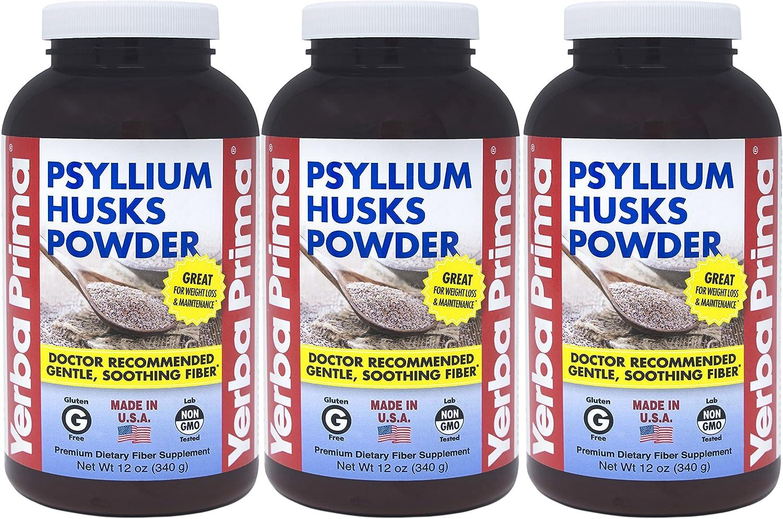 Yerba Prima Psyllium Husks Powder OFFicial site - oz Pack Natural 3 of Cheap SALE Start 12