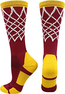 MadSportsStuff Elite Basketball Socks with Net Crew Length (Multiple Colors)