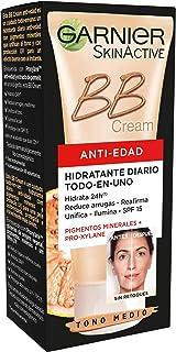 Garnier Skin Active - BB Cream Crema Hidratante Anti Edad Todo en 1 Pieles Maduras Tono Medio 50 ml