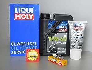 MotorFunSports Maintenance Kit Rex 50cc Oil Spark Plug Service Inspection Oil Change