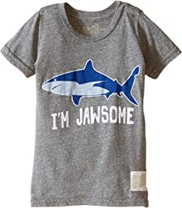 The Original Retro Brand Kids - I'm Jawsome Shark Short Sleeve Tri-Blend Tee (Toddler)