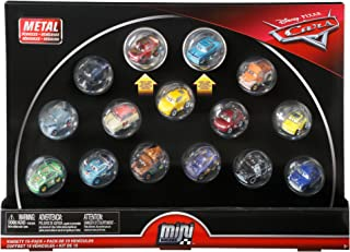 Disney Cars Diecast Mini Racers Variety 15-pack Including First-Look Metallic Rust-Eze Racing Center Lightning McQueen and...