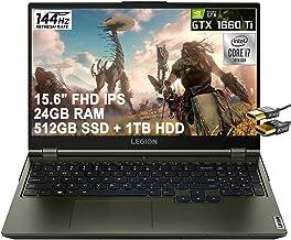 "Lenovo Flagship Legion 5 15 Gaming Laptop 15.6"" FHD IPS 144Hz 300nits 100% sRGB Display Intel 6-Core i7-10750H 24GB RAM 51..."