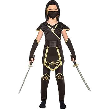 My Other Me Me-204893 Disfraz de ninja para niña, color negro, 10 ...