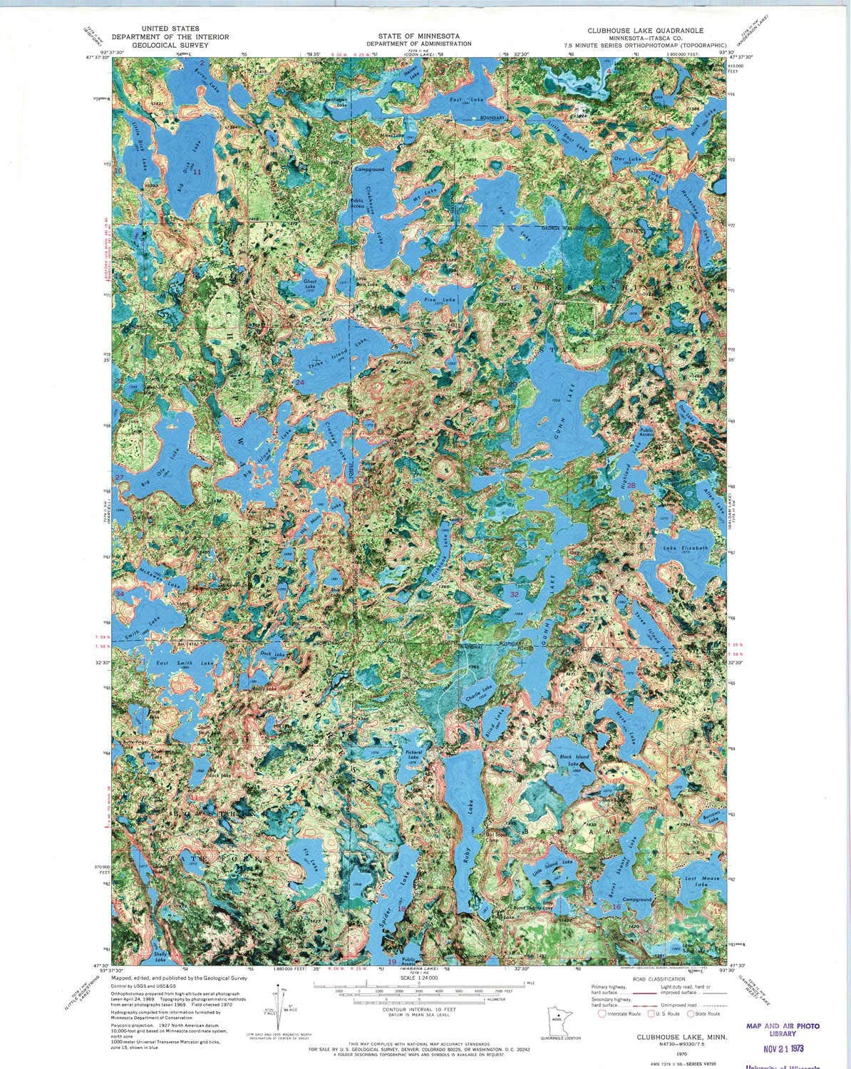YellowMaps Clubhouse Lake MN topo Scale Popular products X Max 84% OFF 1:24000 map 7.5