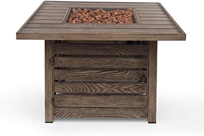 Christopher Knight Home 314044 Elberton Outdoor FIRE Pit, Wood Pattern Brown