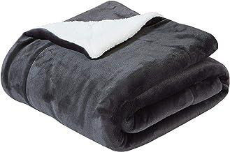 (150cm 200cm, Dark Gray) - Sherpa Throw Blanket 150cm 200cm,Dark Grey Blanket for Couch,Car or Bed by SOCHOW (Dark Grey)