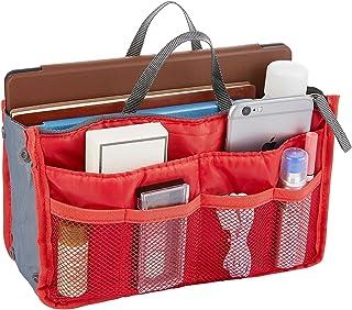 Handbag Organizer Insert Kuyou Purse Organizer Double Zipper Travel Compartment Purse Bag Durable Storage Package for Makeup, Storage, Toiletry