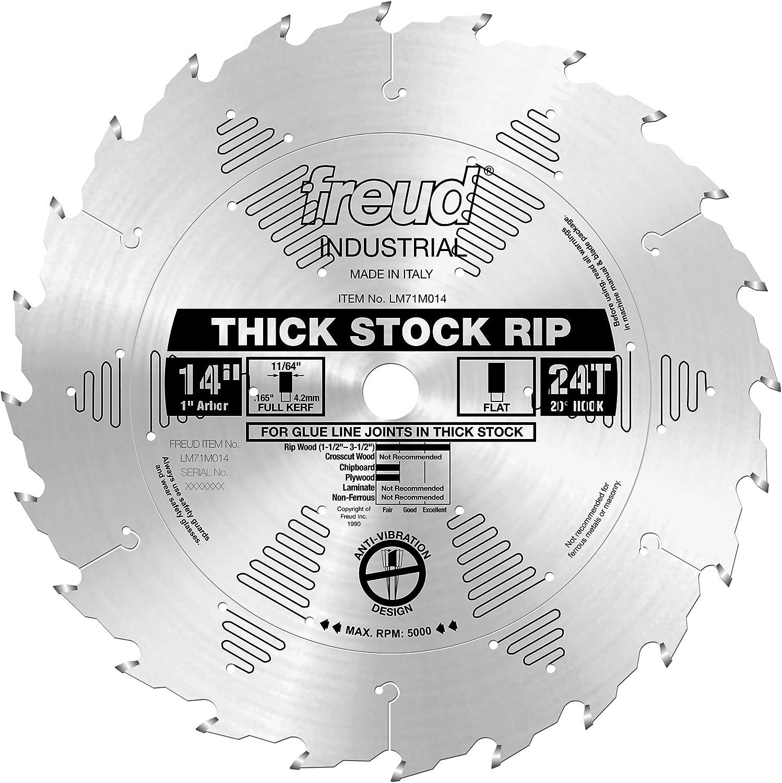 Freud 14 X 24t Thick Stock Rip Blade Lm71m014 Circular Saw Blades Amazon Com