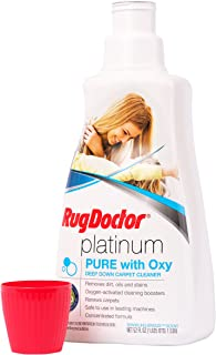 Rug Doctor Platinum Pure with Oxy, Carpet Cleaning Solution that Extracts Dirt and Stains, Use with Deep Carpet Cleaning Machines, 52 fl oz.