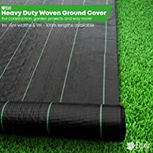 2m x 25m Ground Check Control Cover Landscape Fabric + 25 Pegs Prime by elixirgardens®