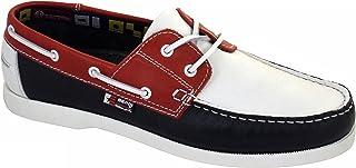 Beppi Chaussures Bateau/Mocassins Homme Rouge/Blanc/Bleu