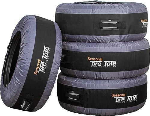 Kurgo Seasonal Tire Tote | Spare Tire Cover | Portable Wheel Bags | Winter Tire Cover | Eco-Friendly Tire Totes | Han...