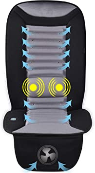 SNAILAX Cooling Car Seat Cushion with Massage, Car Seat Cooling Pad,Air Conditioned Seat Cover with Car Fan for Car Truck Home and Office use SL-252: image