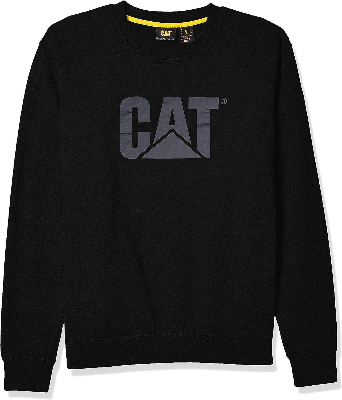 Caterpillar Japan's largest assortment Men's Trademark Crewneck Logo Time sale