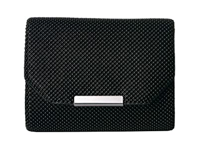 Jessica McClintock Katie Mesh Flap Clutch (Black) Handbags