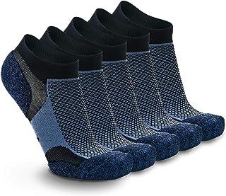 5 Pares Calcetines Running Deportivos Hombres Mujer, Calcetines Cortos Tobilleros Hombre Mujer Invisibles Bajos Antiampollas