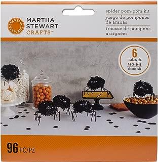 Martha Stewart Crafts Spooky Night Spider Pom Pom Kit, 48-20414