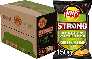 Lay's Strong Chips Chilli & Lime, Doos 9 stuks x 150 g