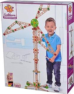 Simba 100039046 Eh Klocki Konstrukcyjne - Wiatrak, 300 Elementów 100039046 ,kolorowy