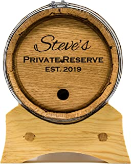 Custom Engraved 1 Liter Oak Barrels for Aging Whiskey, Rum, Tequila, Bourbon, Scotch and Wine (1 Liter)