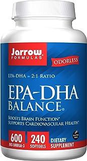 Jarrow Formulas EPA-DHA Balance 600 milligrams Omega-3, 240 softgels. Pack of 4 bottles.