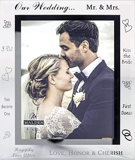 Malden Mirrored Glass Picture Frame Our Wedding 8 By 10 Inch Amazon Ca Home Kitchen