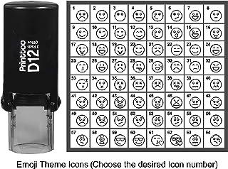 طابع شخصي برنتتو على شكل رموز تعبيرية وشخصية، ختم مطاطي دائري ذاتي الإبر 12 مم، أسود