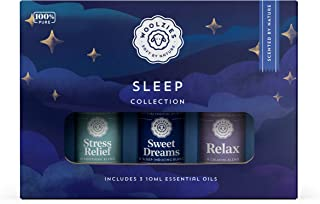 Woolzies Sleep Collection Essential Oil Blend Set | Incl. Sweet Dreams, Relax, & Stress Relief Oils | Helps Sleeping Faste...