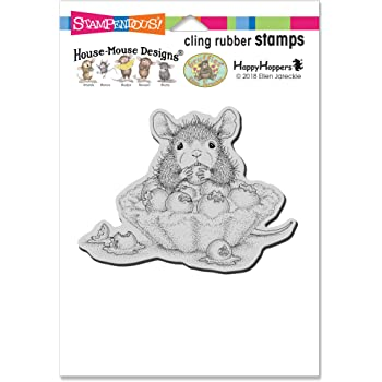 Grey Stampendous House Mouse Cling Stamp-Catnip Snack