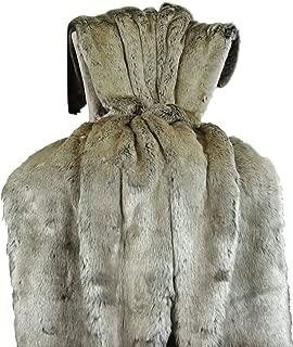 Thomas Collection Tissavel Silver Gray Faux Fur Blanket - Silver Fur Throw Blanket/Bedspread - Fur Blanket - Gray Faux Fur Throw - Fur Blanket, Made in US, 16442