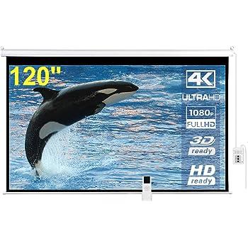 """IMAdeMexico Pantalla de Proyeccion Electrica 120"""" Formato Tipo Alta Definicion HD 16:9 Gain 1.3 (120 Pulgadas - 3.05 Metros)"""