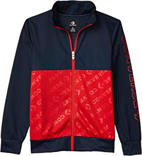 Converse Kids Boy's Color-Block Wordmark Full Zip Jacket (Big Kids) Obsidian MD (10 Big Kids)