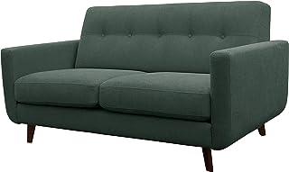Amazon Brand – Rivet Sloane Mid-Century Modern Loveseat with Tufted Back, 64.2W, Emerald Green