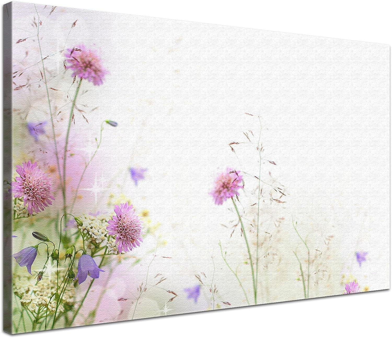 LANA KK - Leinwandbild  Blümchen  mit Blaumen auf auf auf Echtholz-Keilrahmen – Frühling und Natur Fotoleinwand-Kunstdruck in Rosa, einteilig & fertig gerahmt in 100x70cm B00K17NBW6 38cbf3