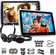 Headrest DVD Player Car DVD Player 10.1'' Dual Car DVD Players with 2 Headphones Eonon C1100A for Kids Support Same/Different Video Playing/AV Out & in HDMI USB SD Port Touch Button