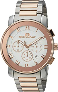 Oceanaut Men's Riviera Analog-Quartz Watch with Stainless-Steel Strap, Two Tone, 22 (Model: OC0337)