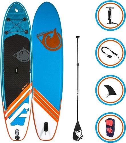 Paddle gonflable - Stand up Paddle avec dérive centrale, support caméra, pompe double action, pagaie, leash et sac de transport- choix taille   9'(276cm) ou 9'8( 299cm) ou 10'2(310 cm) ou 10'6(315 cm) + OPTION siège Kayak - Pack complet