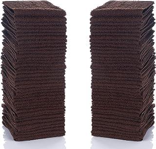 "Simpli-Magic 79221 Brown Cotton Washcloths, 12""x12"", 24 Pack"