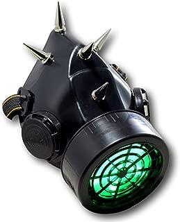 Spiked Steampunk Light up Gas Mask Respirator Single Cartridge 5 Spikes