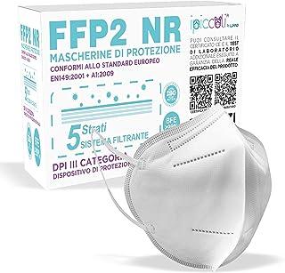 Mascherine FFP2 Certificate CE, Mascherina Certificata FFP2 KN95 DPI con BFE ≥ 99%, Maschera Filtrante FFP2 NR a 5 Strati...