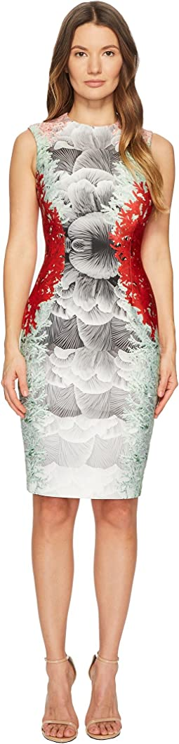 YIGAL AZROUËL - Coral Printed Scuba Dress