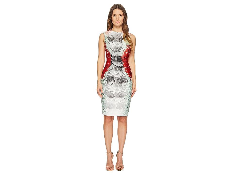 YIGAL AZROUEL Coral Printed Scuba Dress (Rosebud) Women