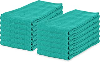 Arkwright Surgical Huck Cleaning Towels, Pack of 12 Absorbent Towel Perfect for your Windows, Glass Painted Metal, Ceramic, Counters, Cabinets (16 x 26 In, Hunter Green)