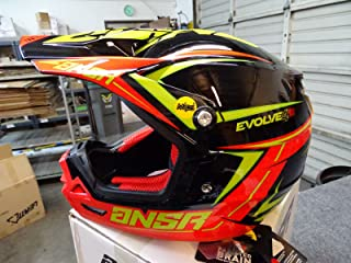ANSR Answer Racing Evolve 4 Mips MX Dirt Bike Helmet Black Red Acid Size MEDIUM