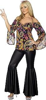 Smiffys Hippie Costume, Female, Black, XL (20-22 UK) (48 - 50 EU))