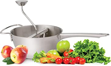 HIC Harold Import Co. 4603 HIC Mill Sauce Maker and Baby Food Strainer, 4 Interchangeable Disc Blades, Coarse to Extra Fine, 18/8 Stainless Steel, 2-Quart Capacity