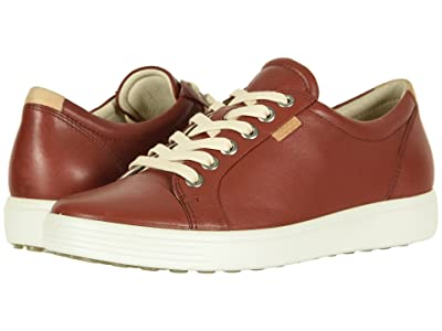 ECCO Soft 7 Sneaker (Fired Brick Cow Leather) Women