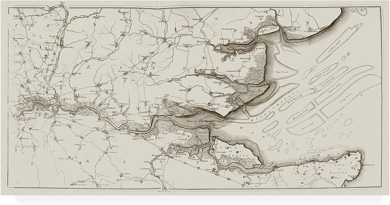 Trademark Fine Art River Thames II by Joseph Stadler, 10x19